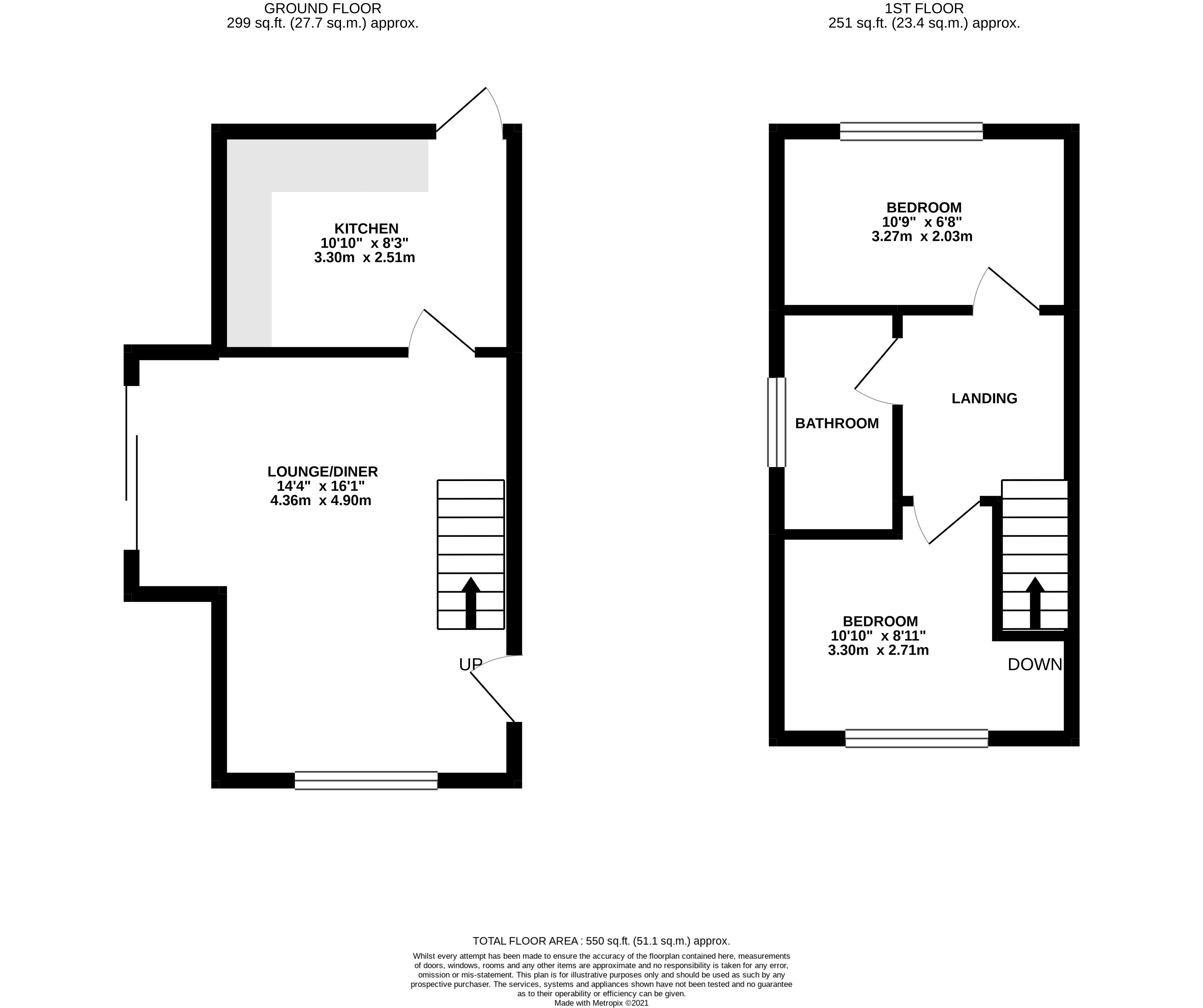 Floor plan for Annexe